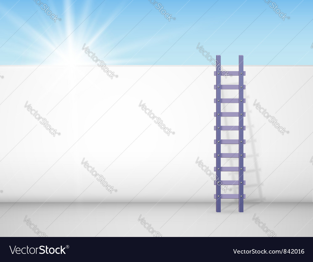 Behind a wall vector image