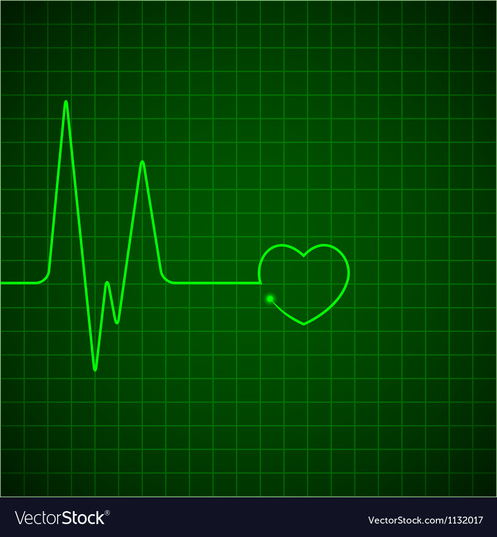 Heart pulse monitor vector image