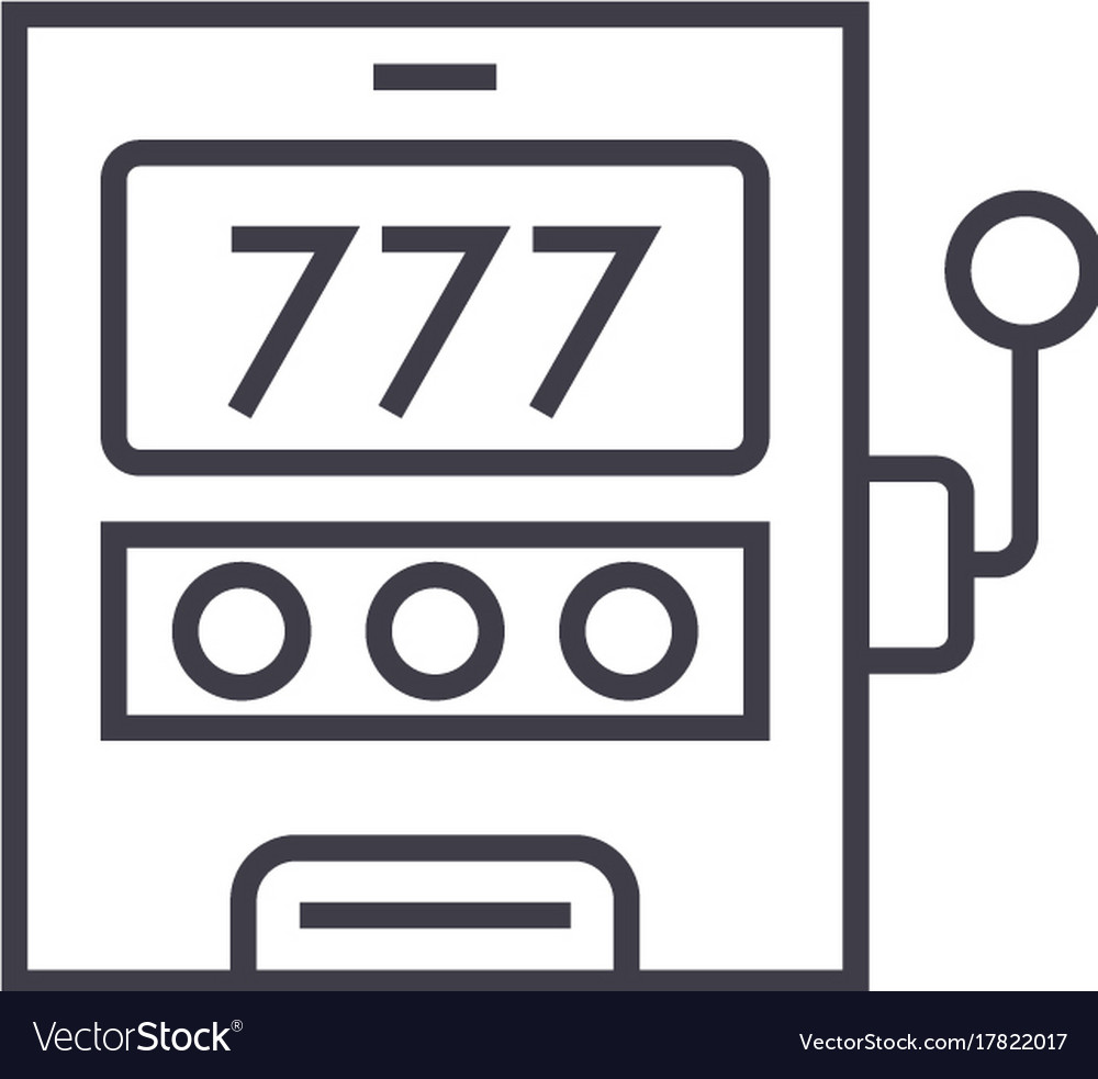 Casino machineluck line icon sign vector image