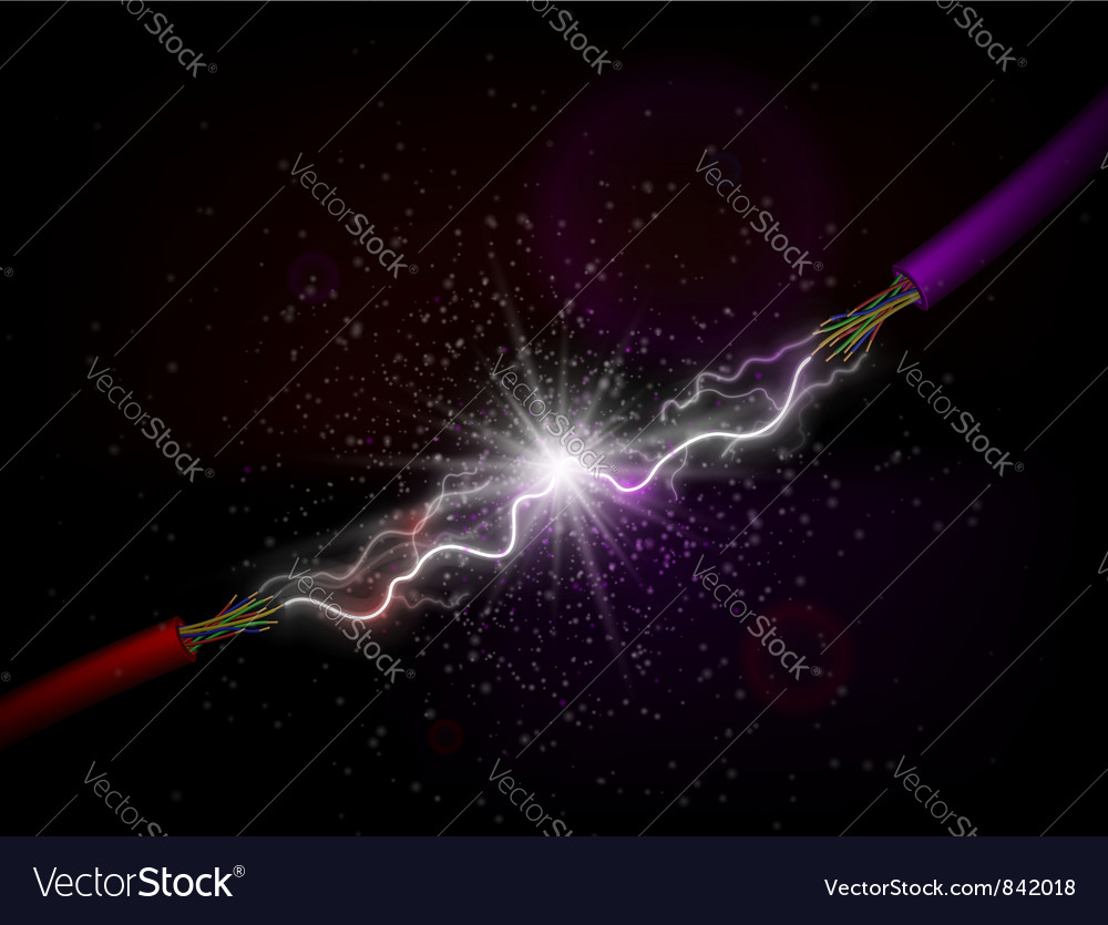 Conducting electricity vector image