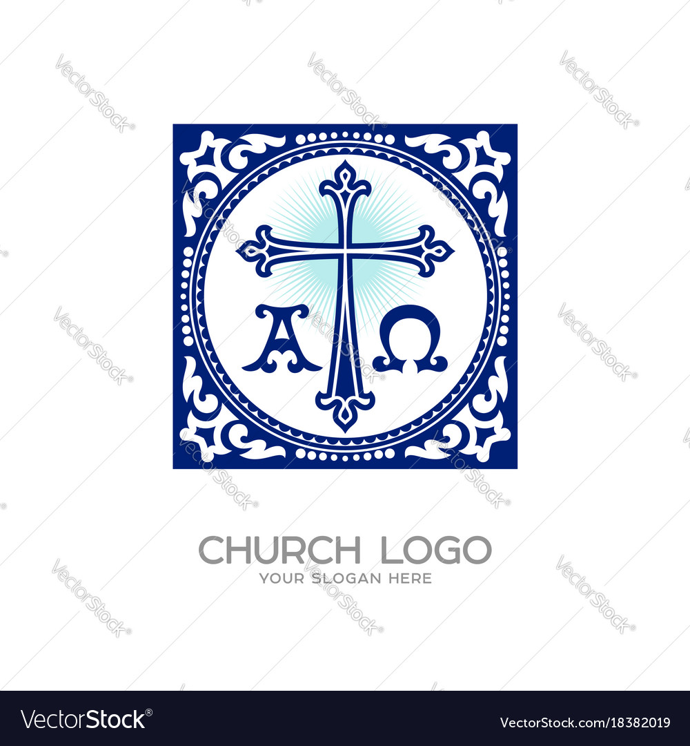 Cross of jesus symbols alpha and omega royalty free vector cross of jesus symbols alpha and omega vector image buycottarizona