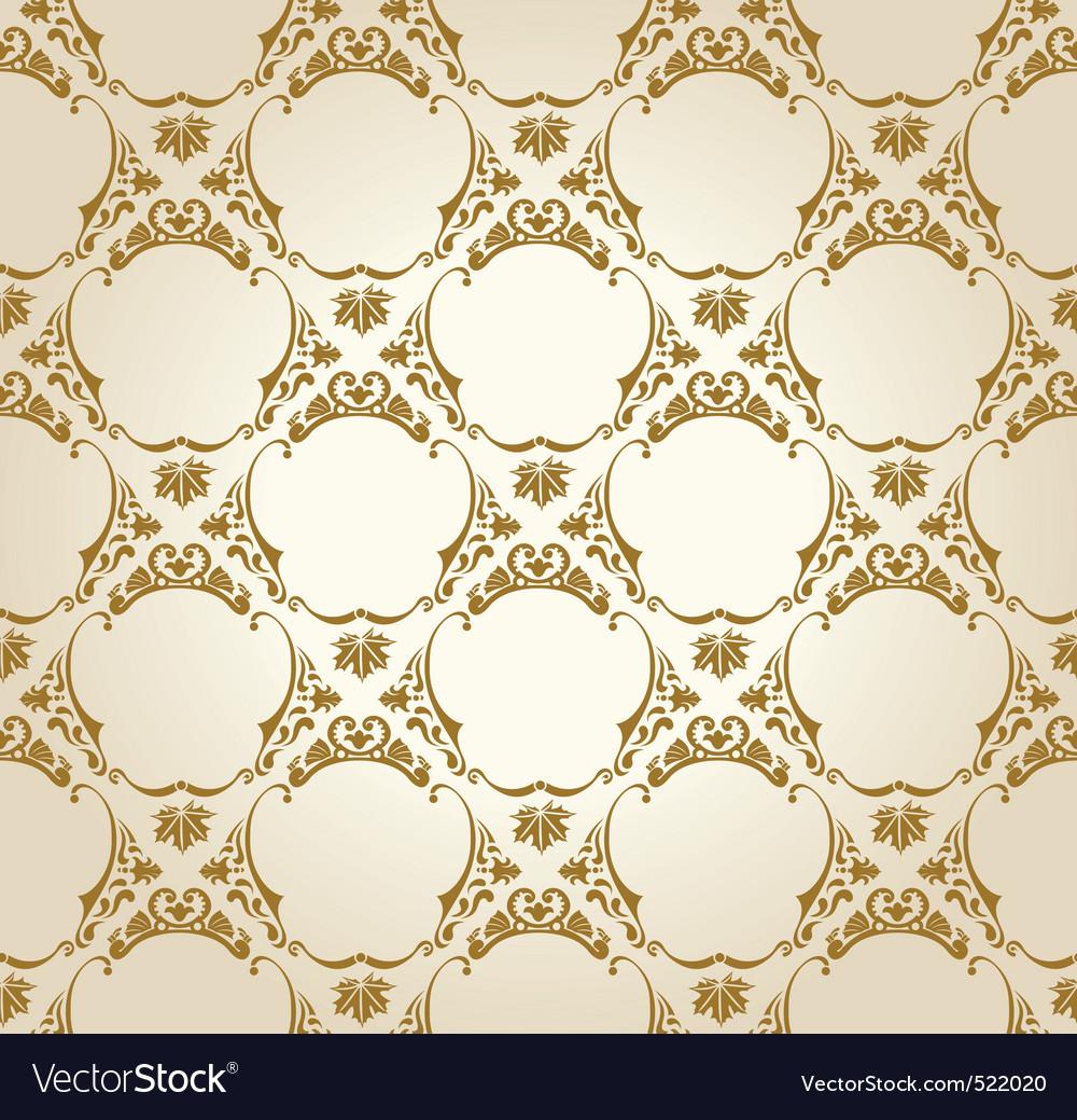Seamless wallpaper background vintage gold Vector Image