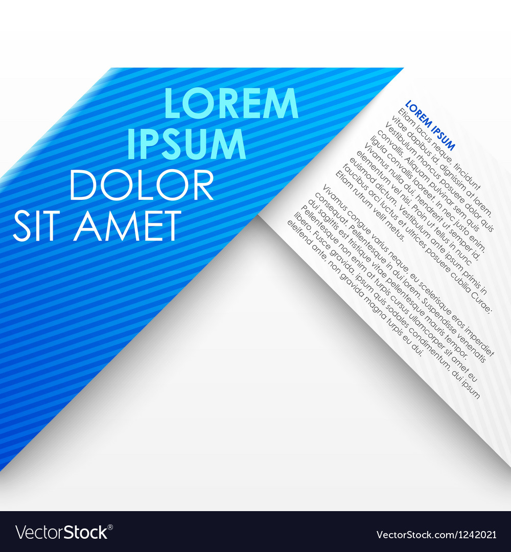 Blue paper origami banner vector image