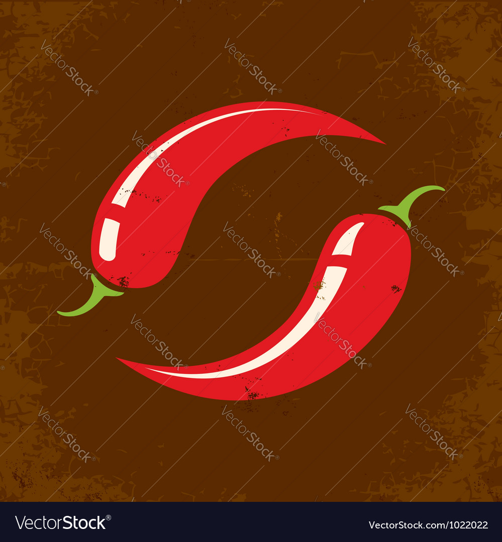 Chili retro vector image