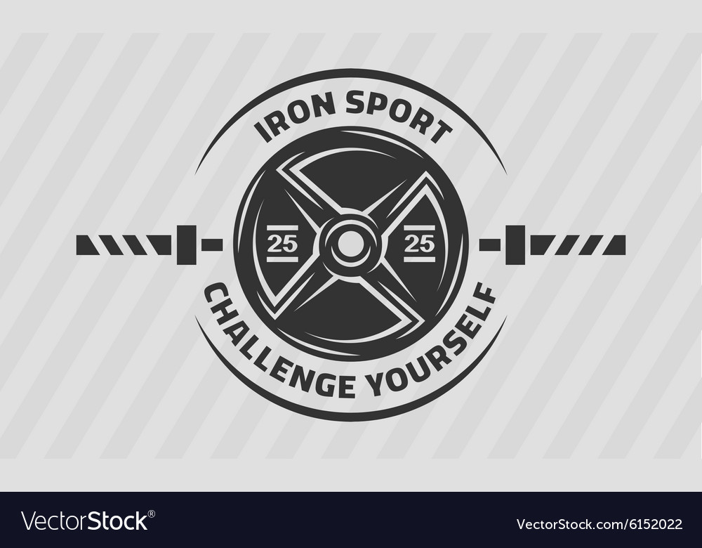 Cross Training Disk weight and barbell vector image