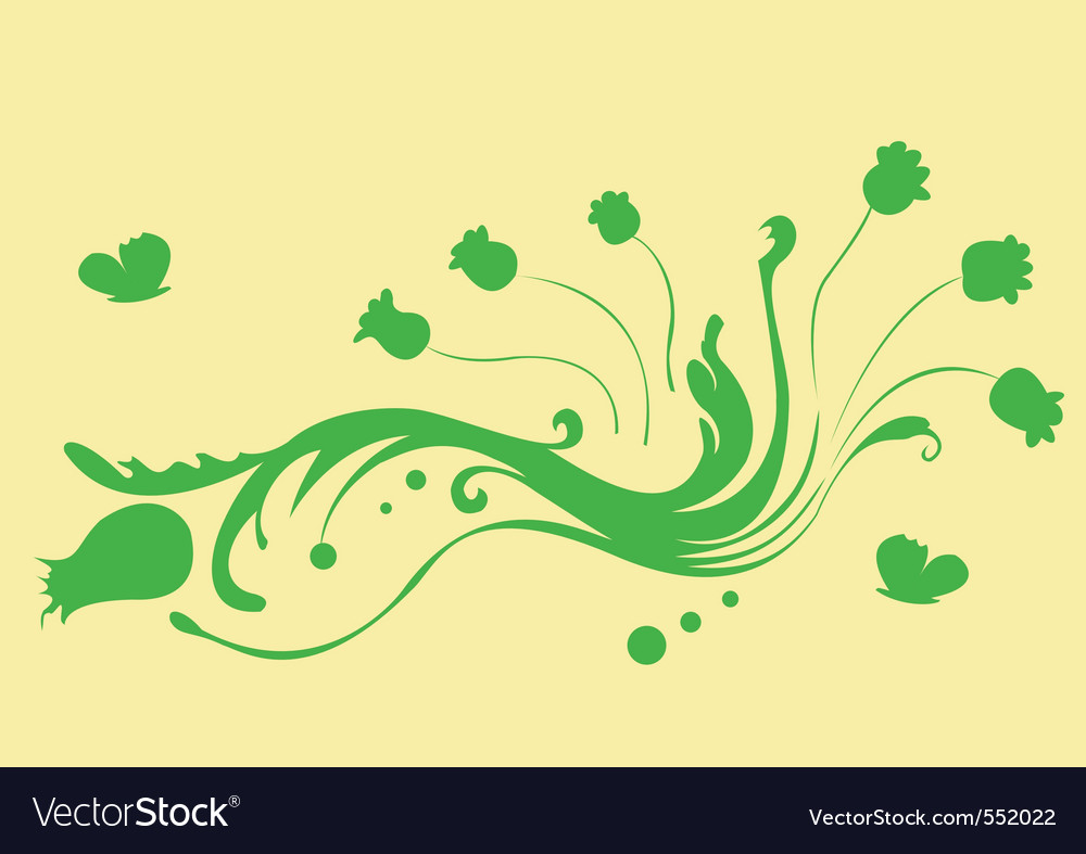 Vector illustration of funky abstract beautiful fl vector image