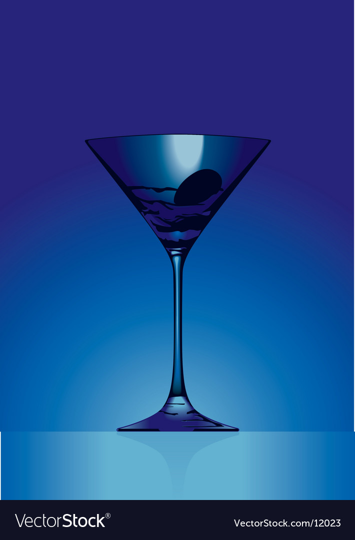Martini blue vector image