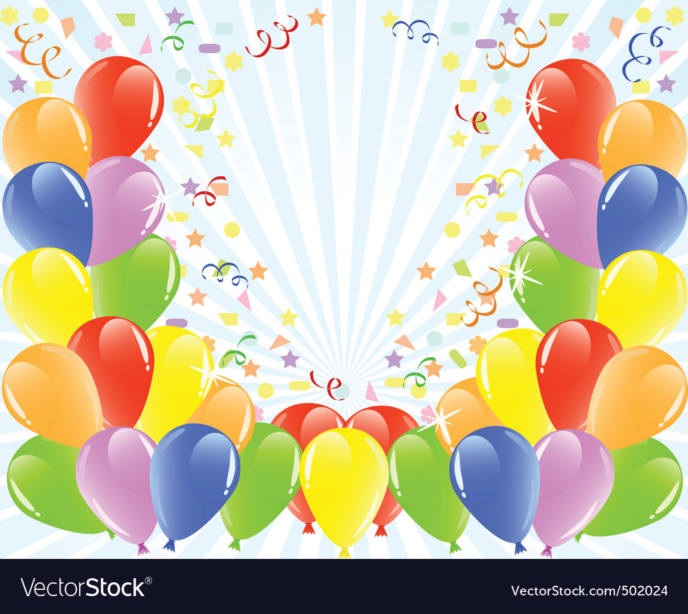 balloons background royalty free vector image vectorstock