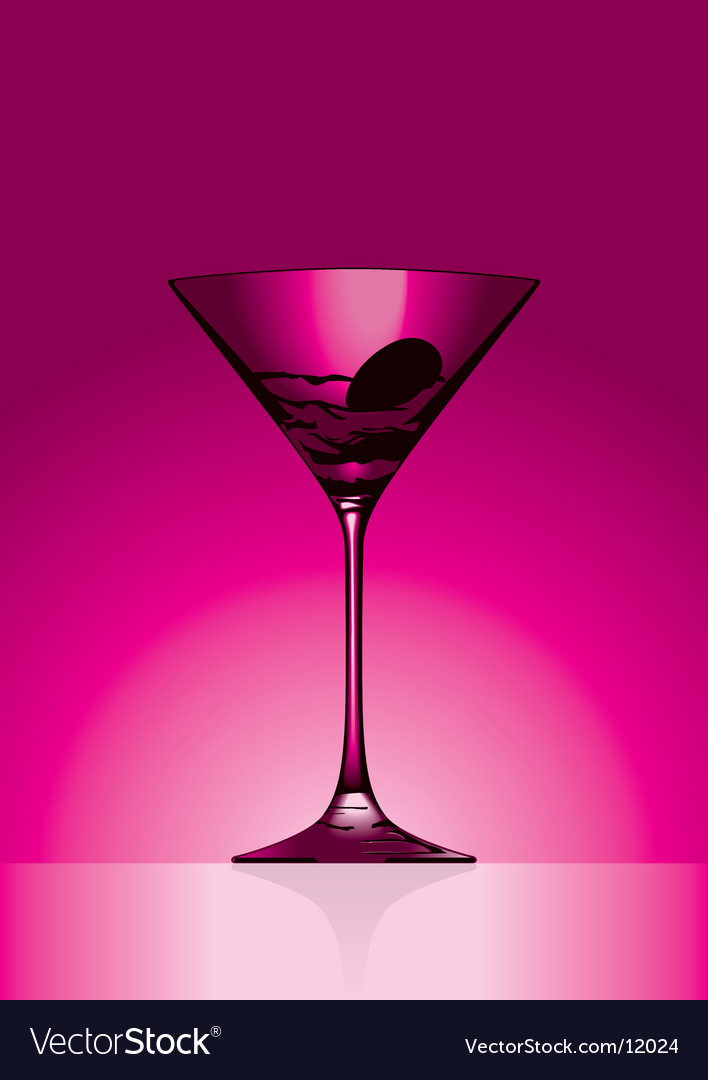 Martini pink vector image