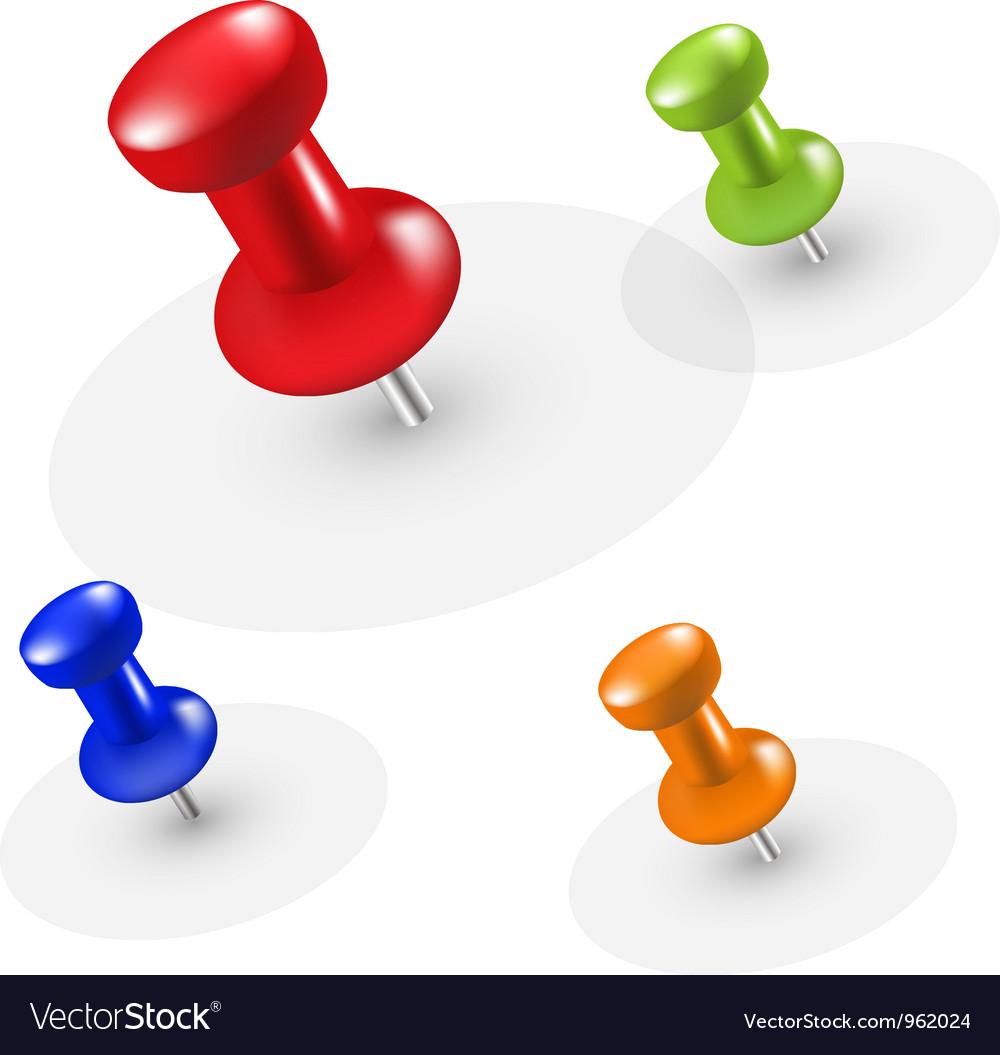Pins vector image