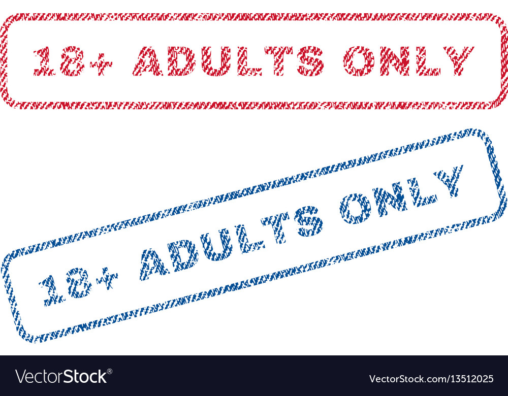 18 plus adults only textile stamps vector image