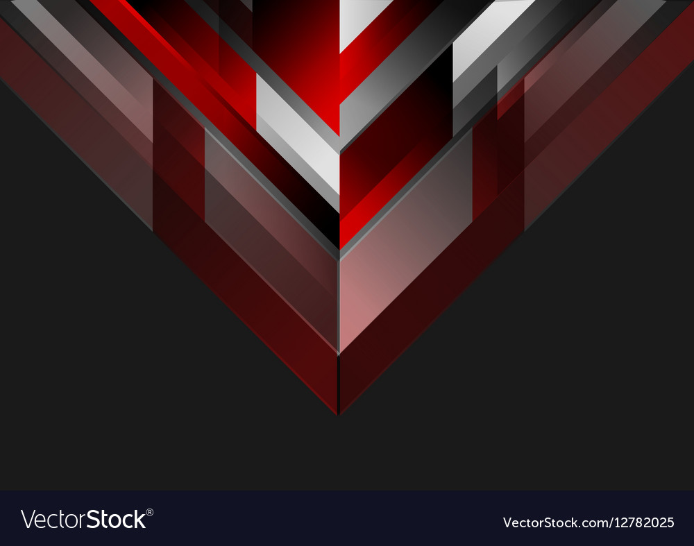 Abstract Background Black And Red >> Abstract tech geometric red black background Vector Image