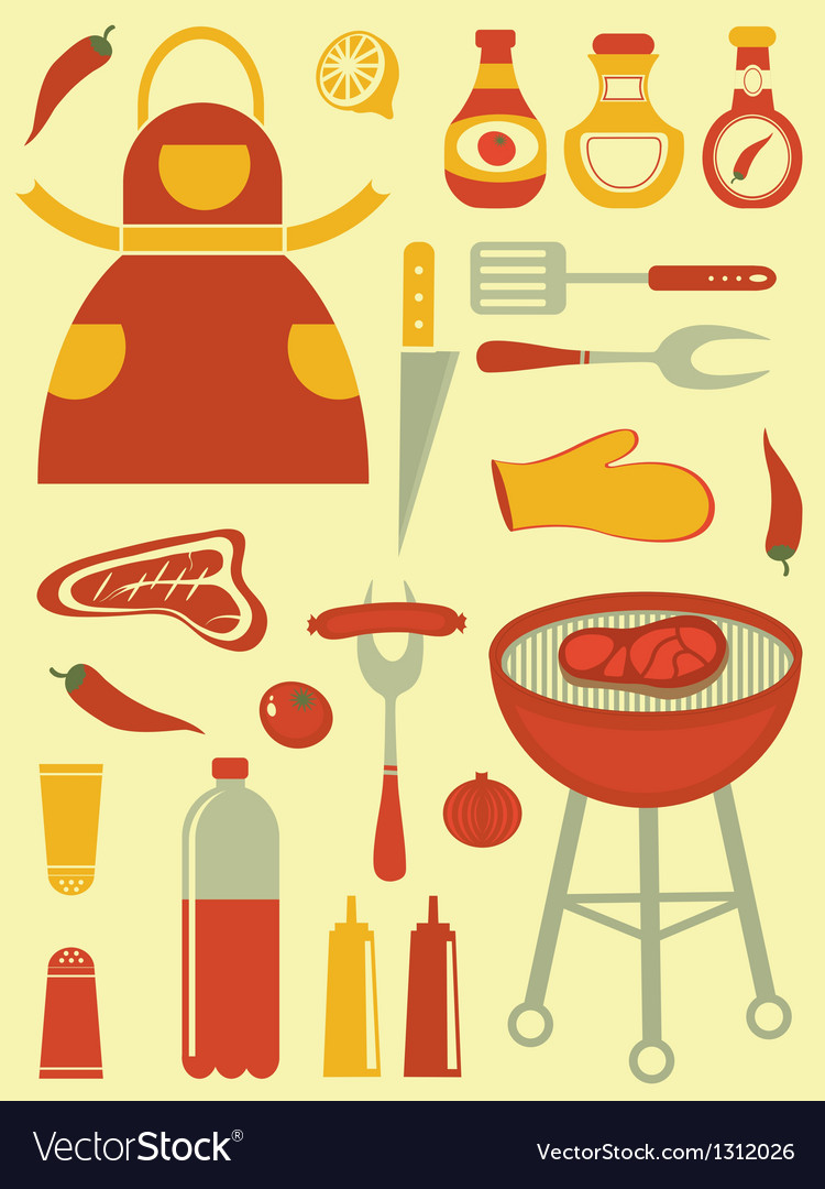 Barbecue collection vector image