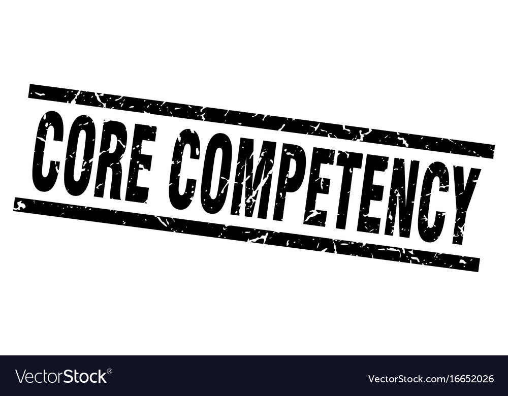 Square grunge black core competency stamp vector image