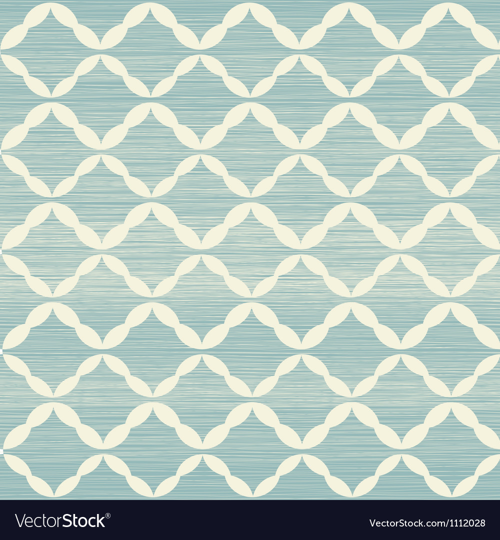 Linked diamond pattern vector image