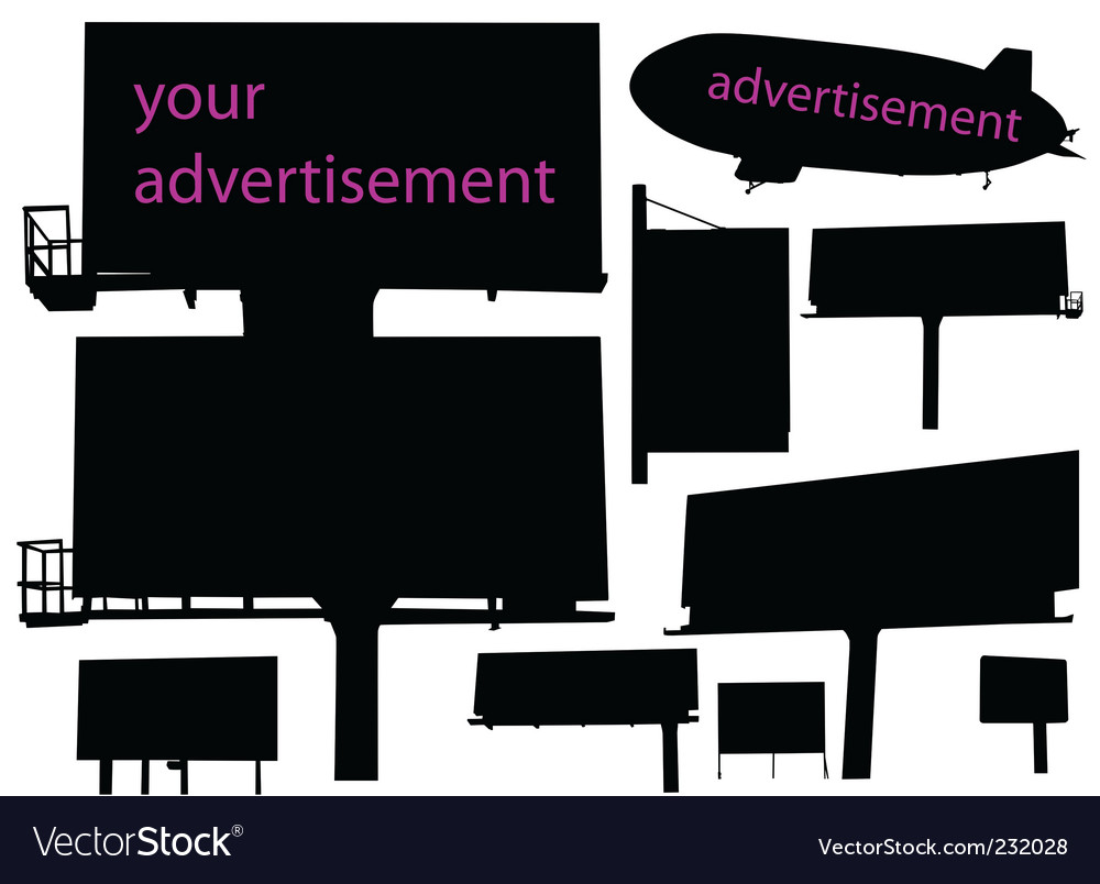 Outdoor advertisement vector image