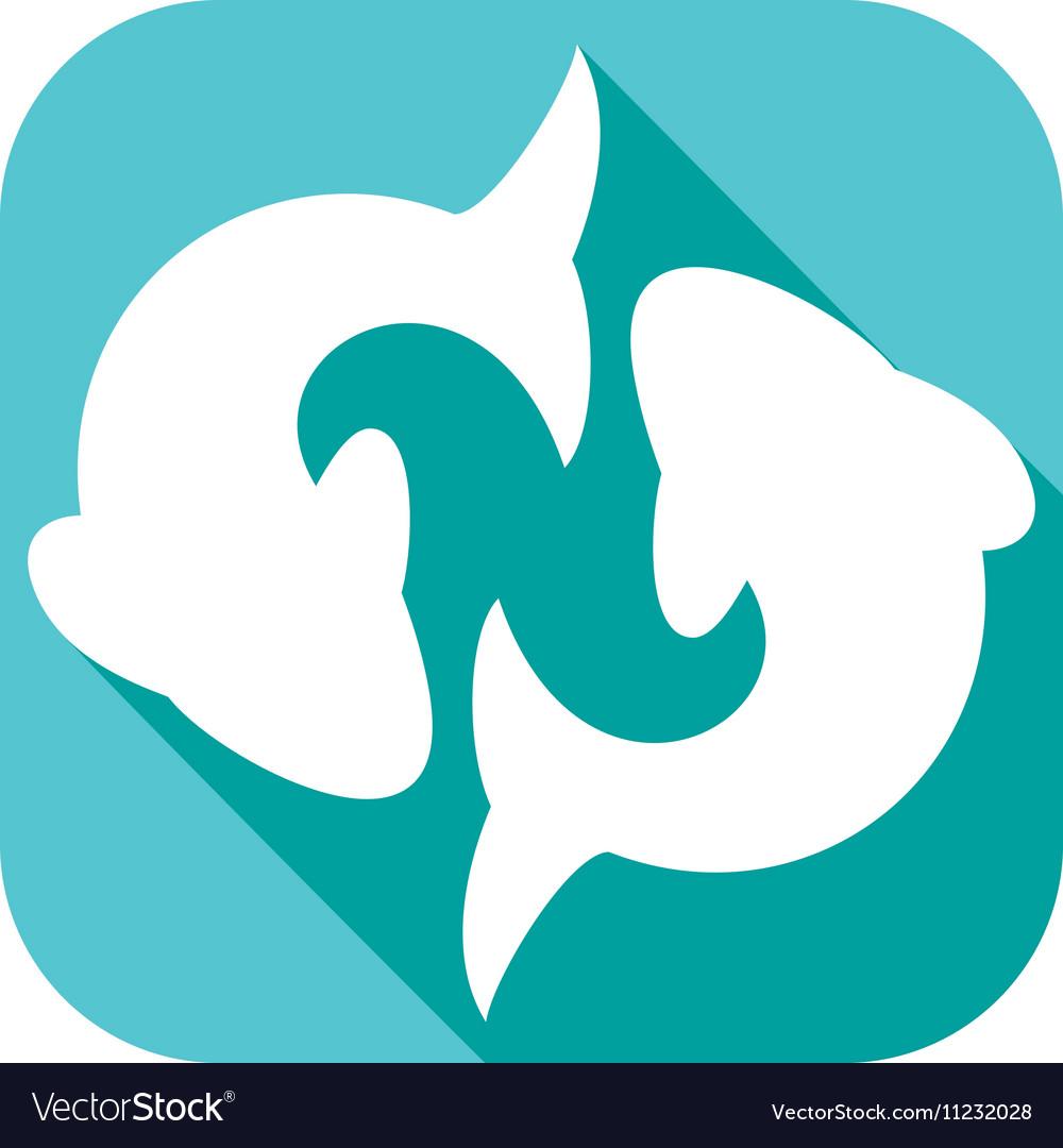 Pisces Zodiac Sign Icon vector image