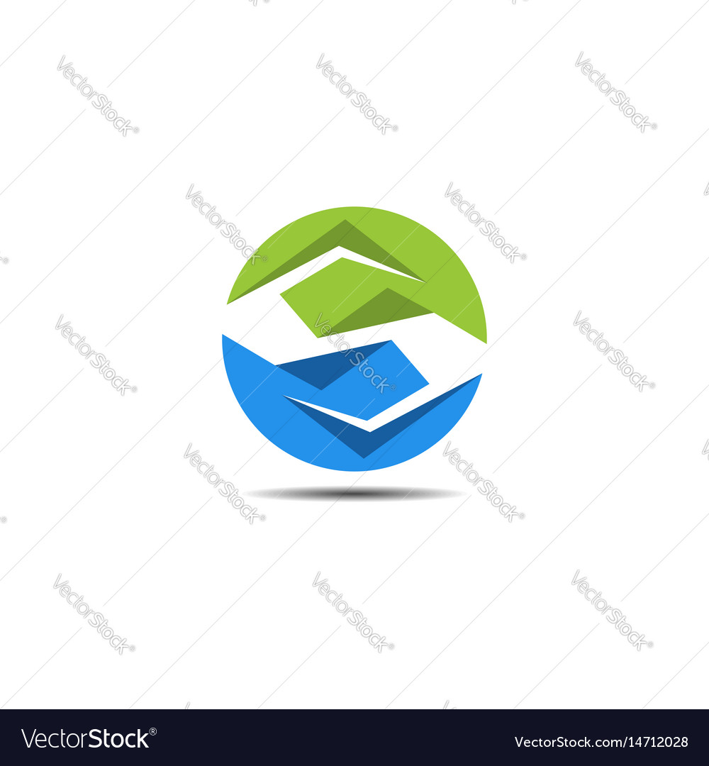 S circle abstract logo vector image