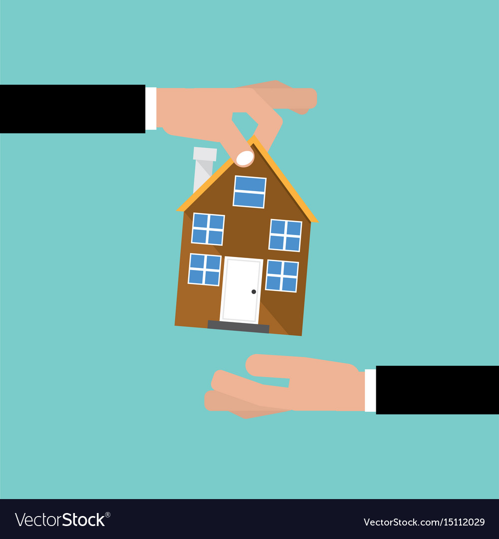Buying home real estate investment concept vector image