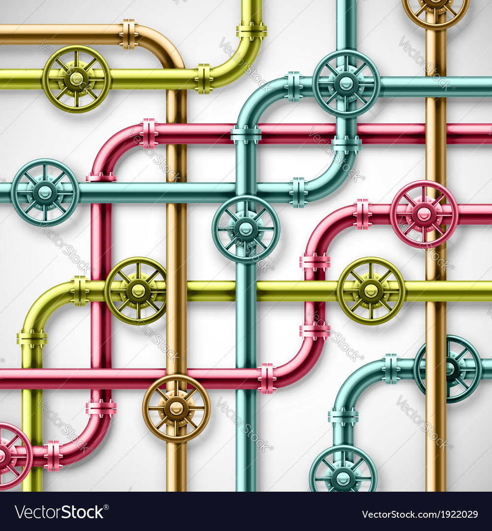 Colorful pipes vector image