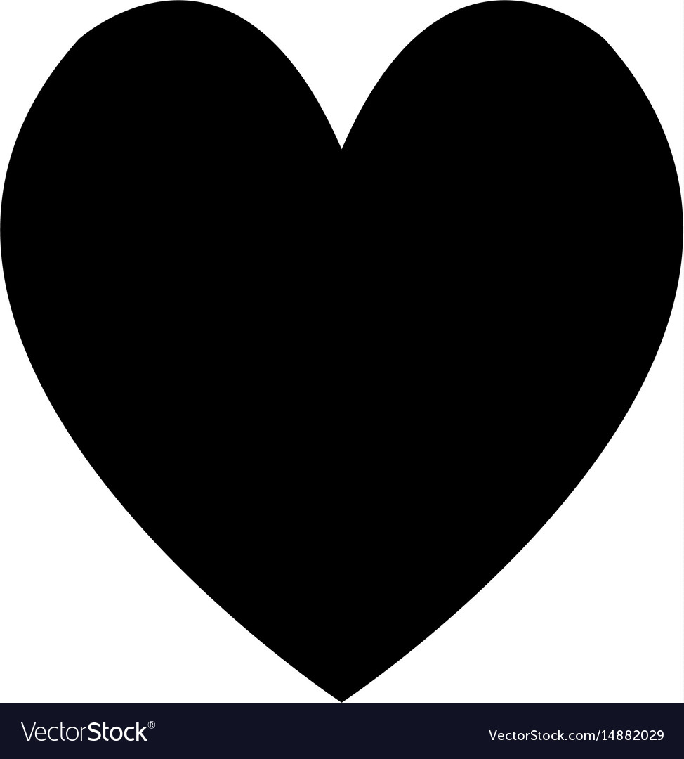 Heart love romantic adorable cute image vector image