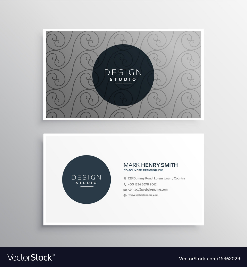 Professional business card design in gray color Vector Image