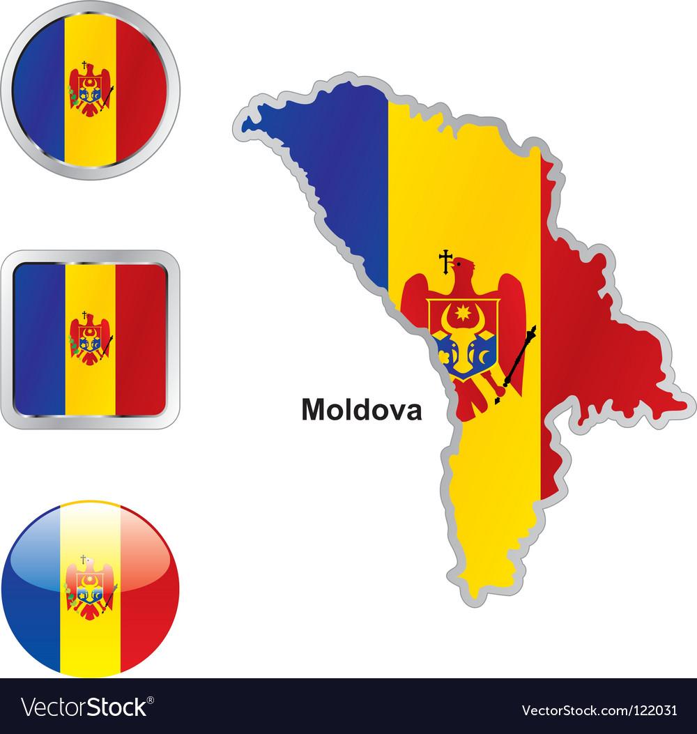 Moldavia flag vector image