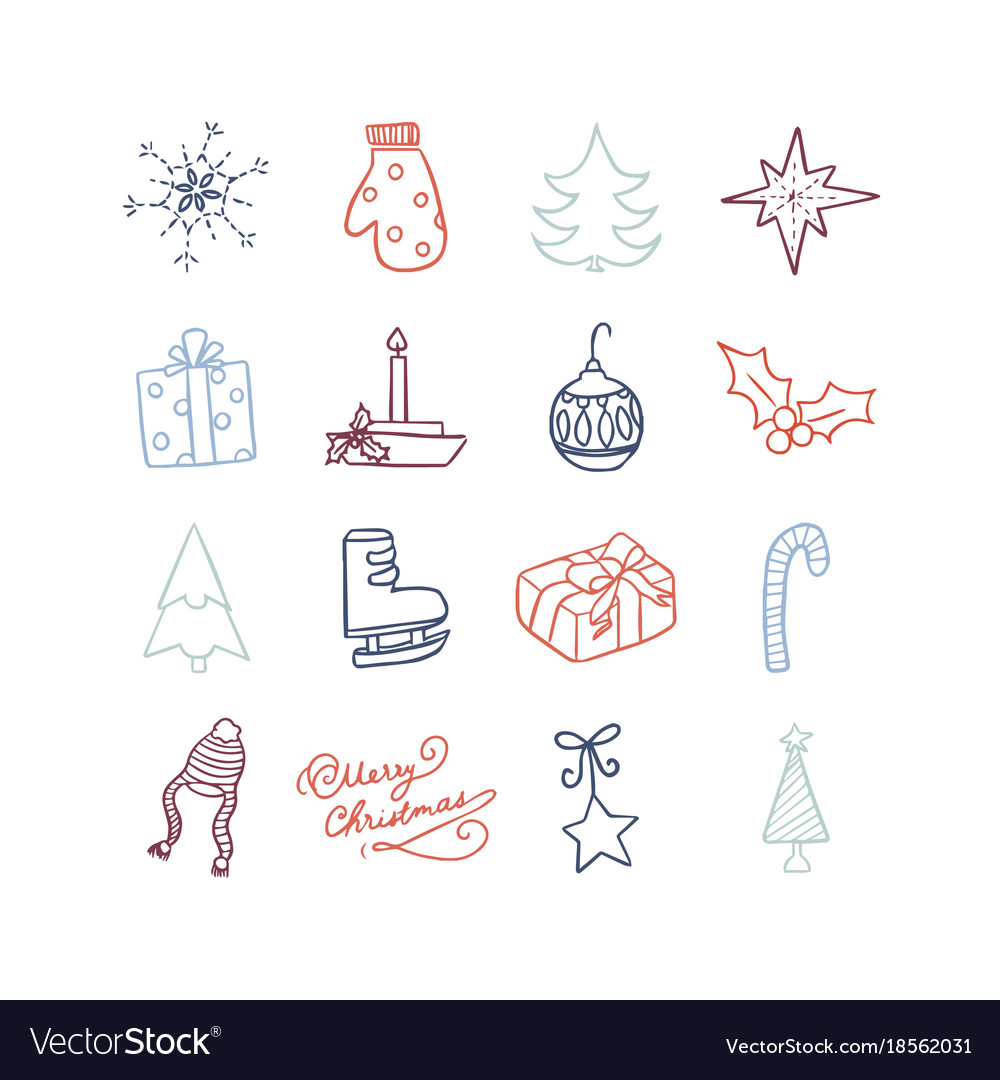 Christmas cute icon vector image