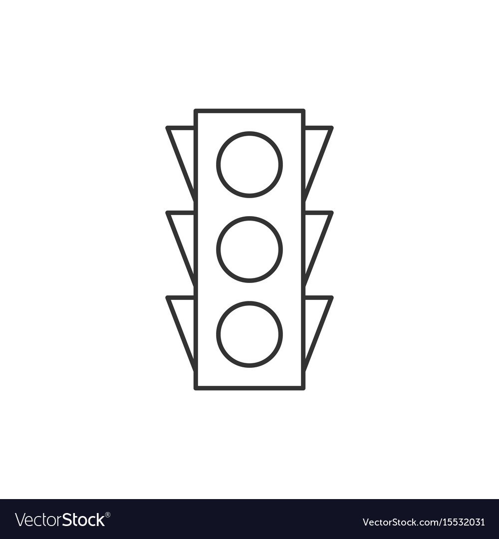 Traffic light outline icon vector image