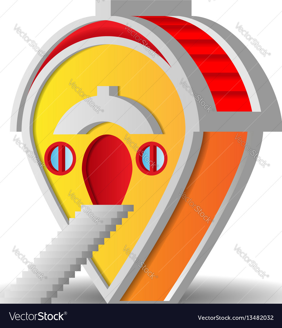 Pin pointer looking like house vector image