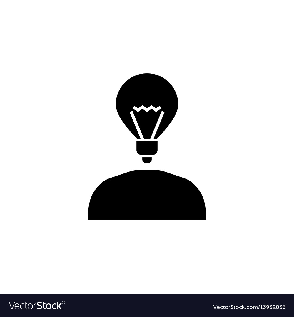 Creative thinking solid icon vector image