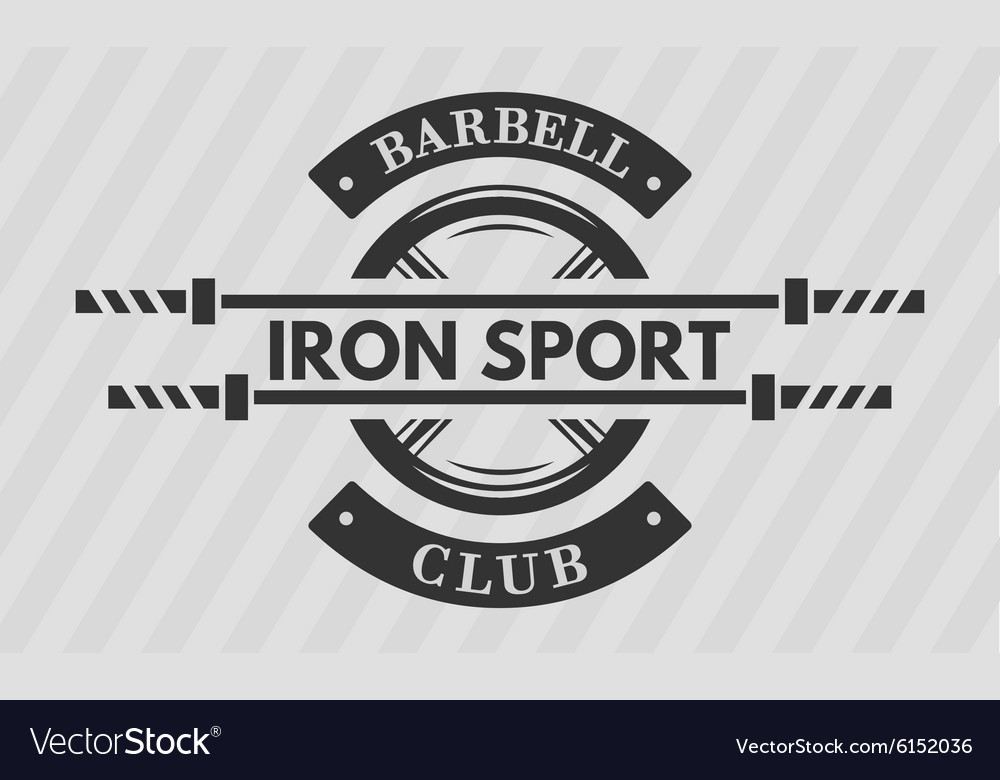 Iron sport disk weight and barbell vector image