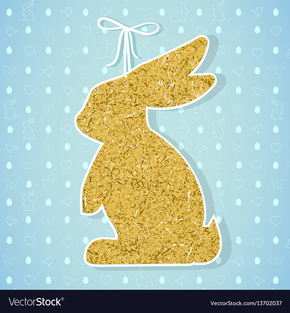 Easter paper decoration in the form of bunny vector image