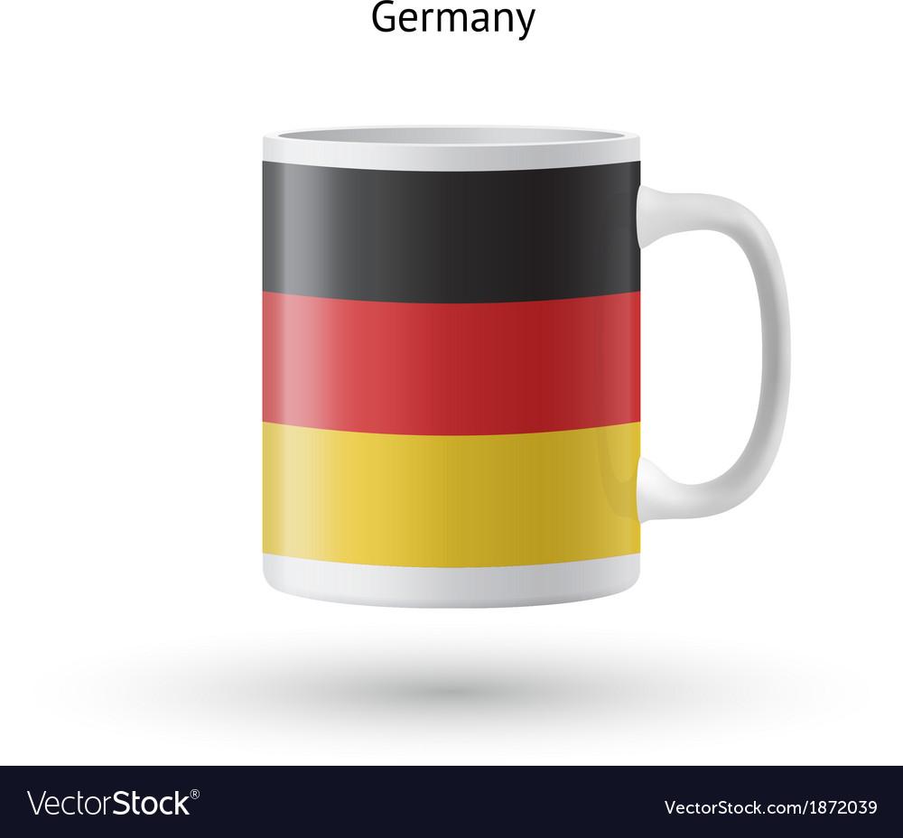 Germany flag souvenir mug on white background vector image