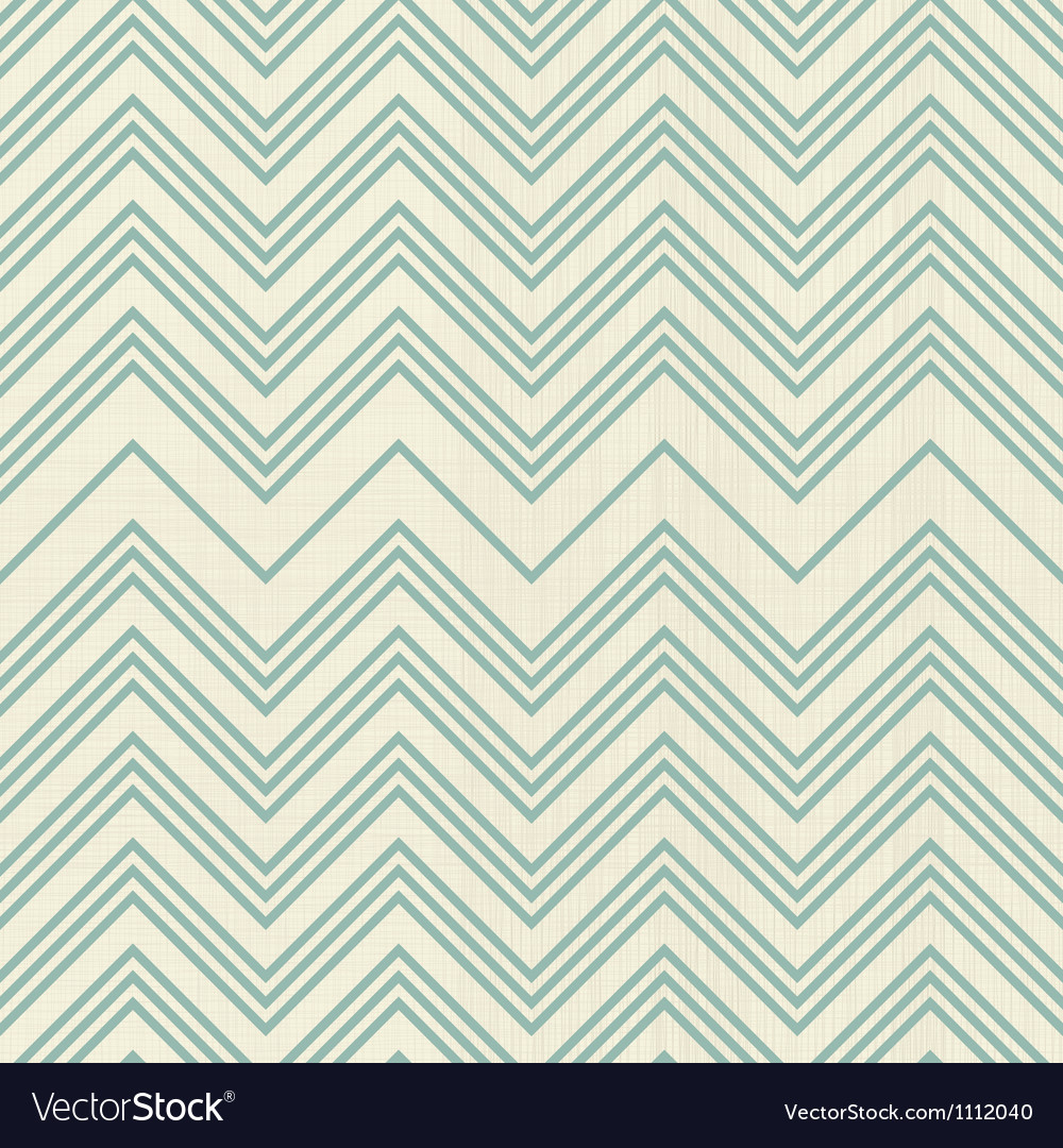Green retro zig zag vector image