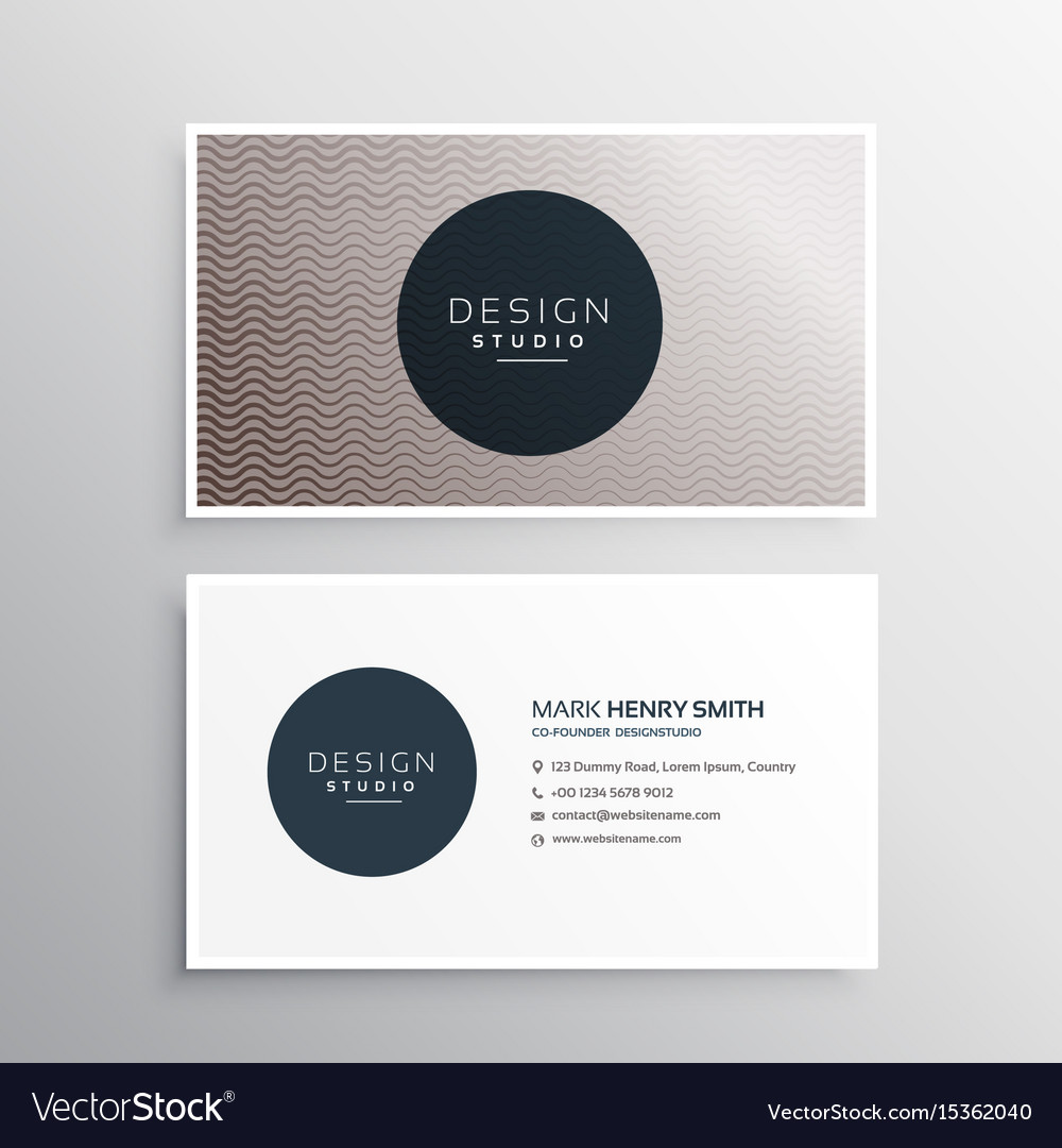 elegant wavy lines business card design background