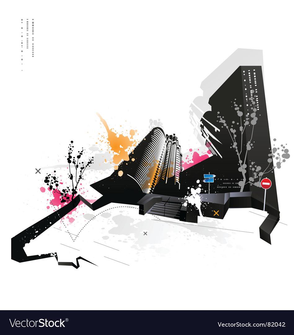 Modern grunge urban graphic design vector image