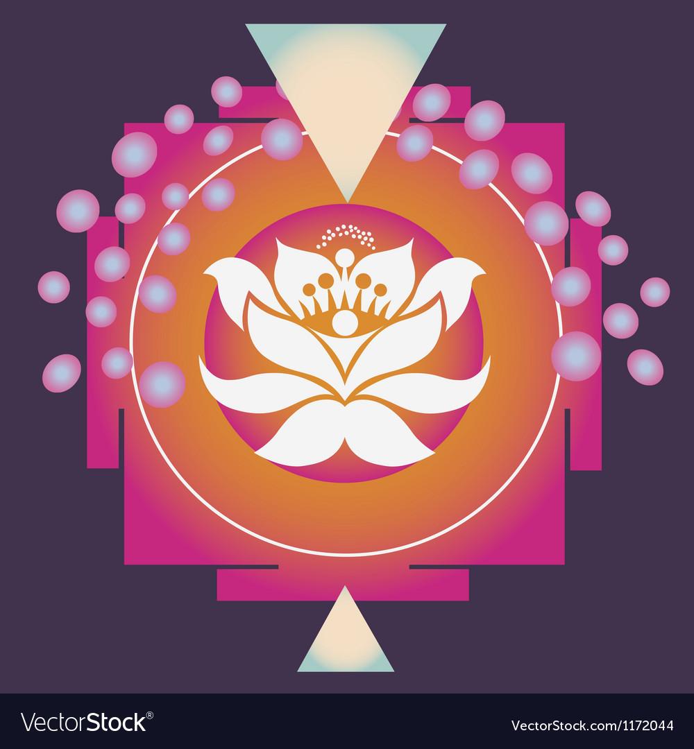Magic lotus yantra vector image