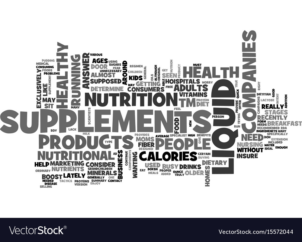 Are liquid supplements right for your healthy vector image