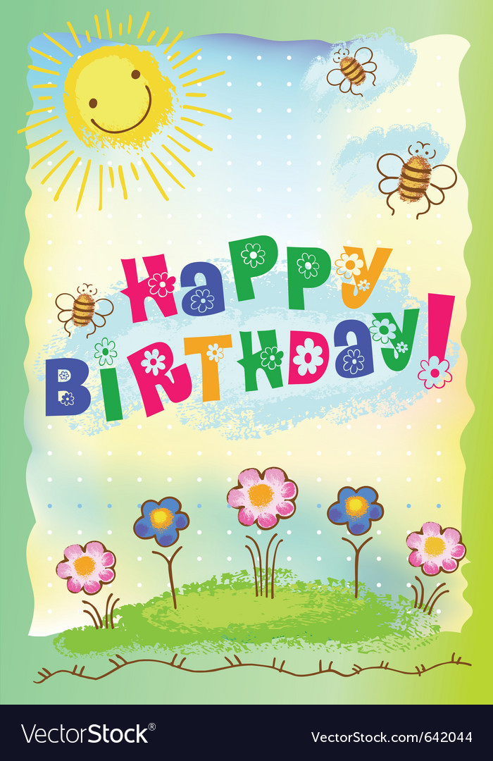 Happy birthday postcard royalty free vector image happy birthday postcard vector image bookmarktalkfo Image collections