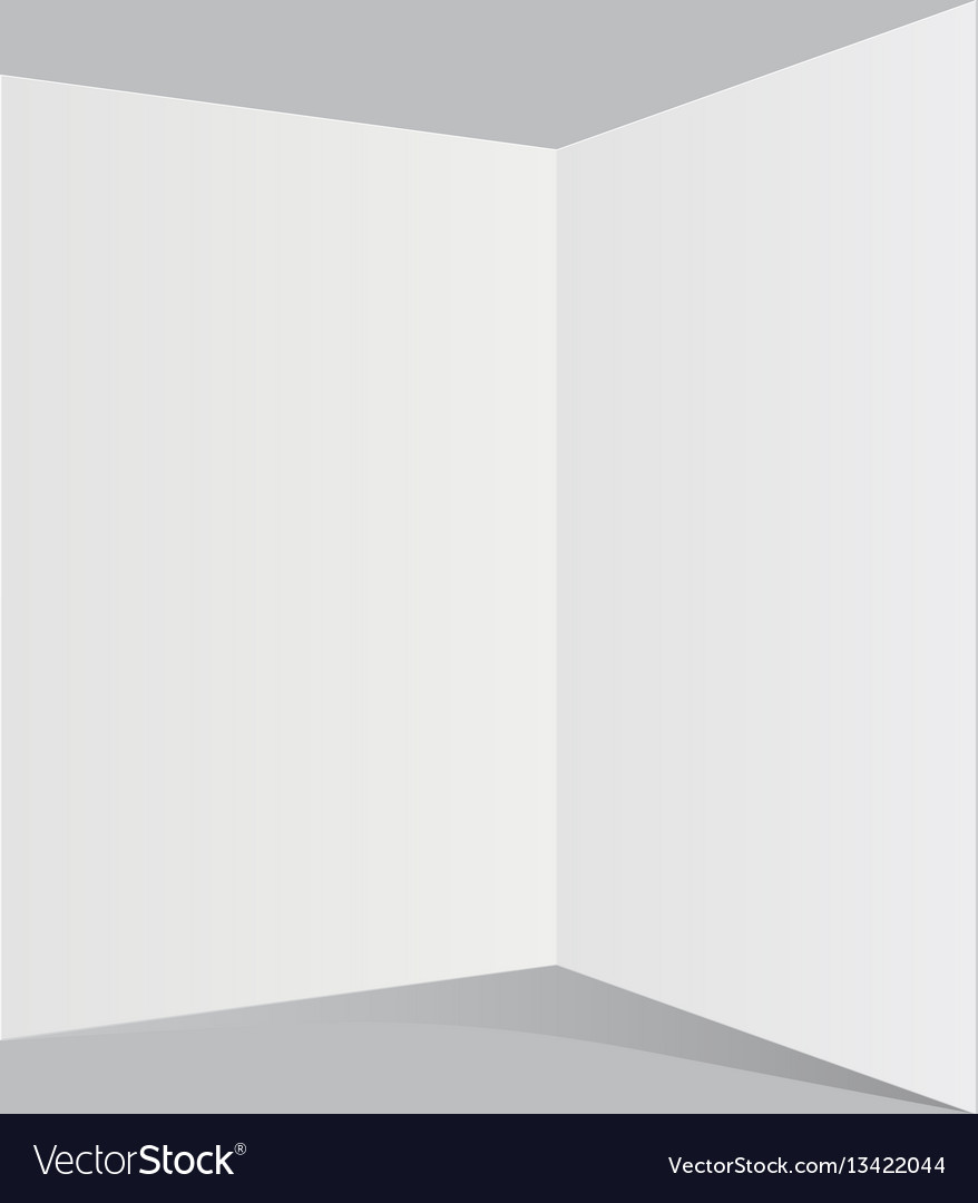 White sheet of paper with shadows vector image