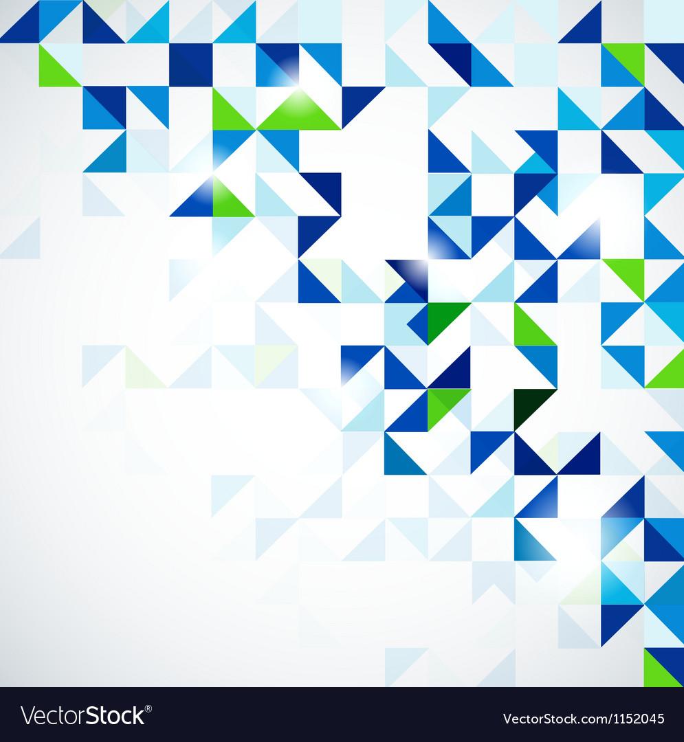 Blue green modern geometric design template vector image