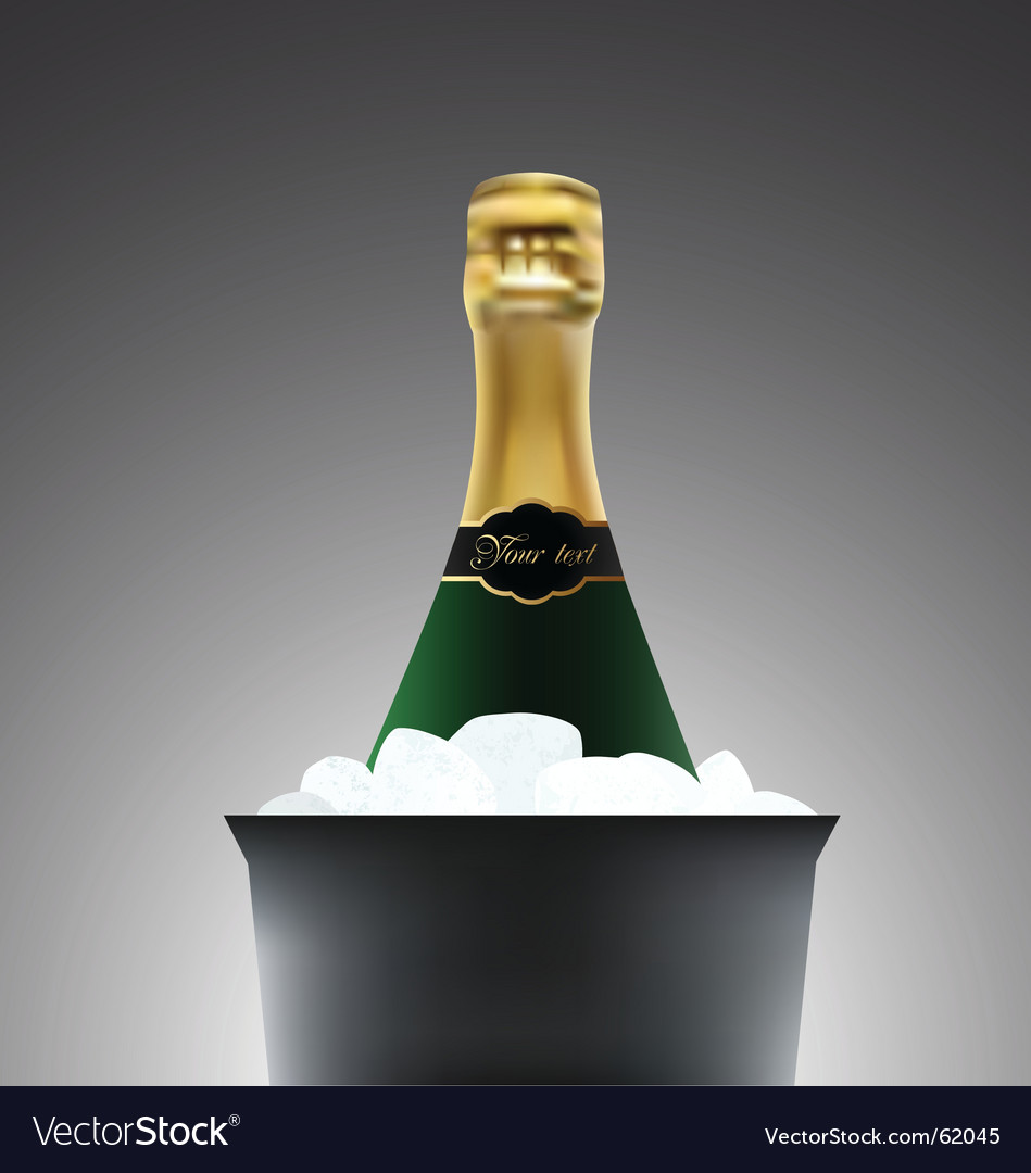 Champagne illustration vector image