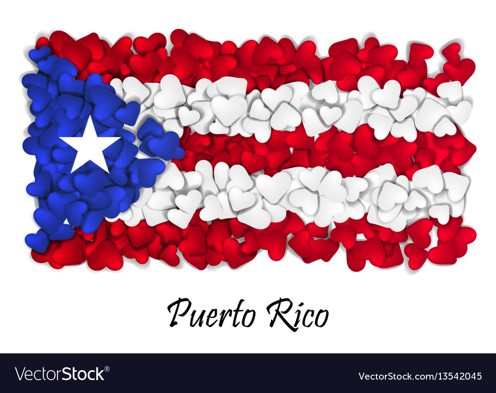 Flag love puerto rico flag heart glossy with vector image biocorpaavc Image collections