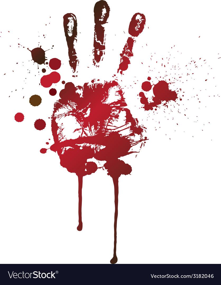 Bloody handprint vector image