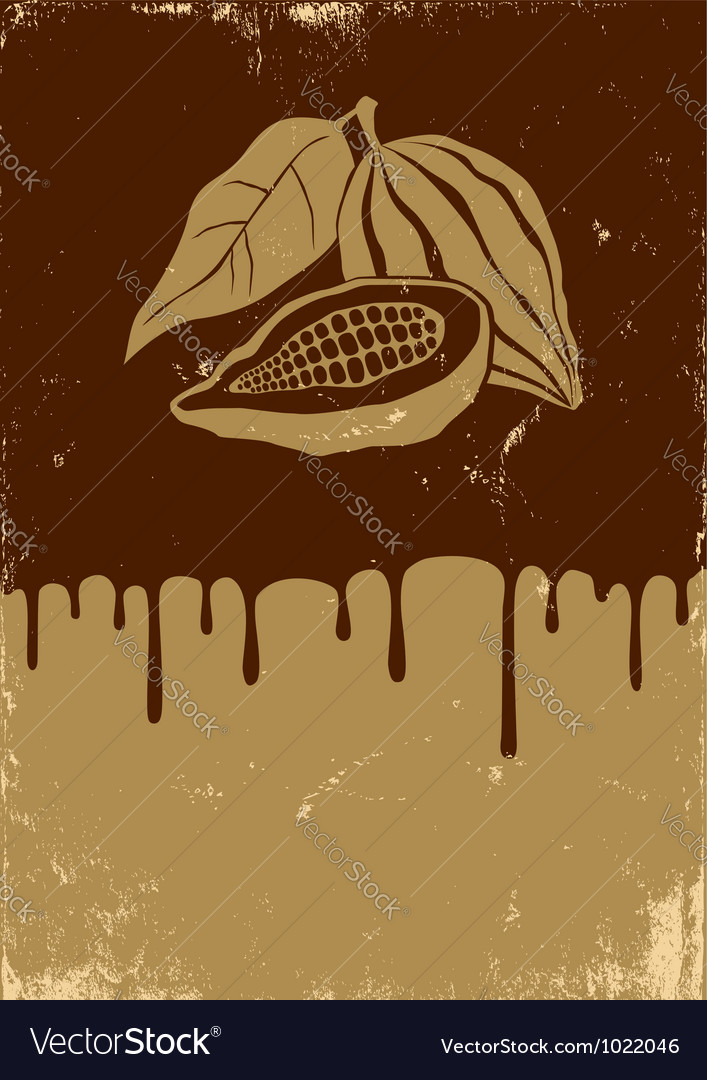 Chocolate retro vector image