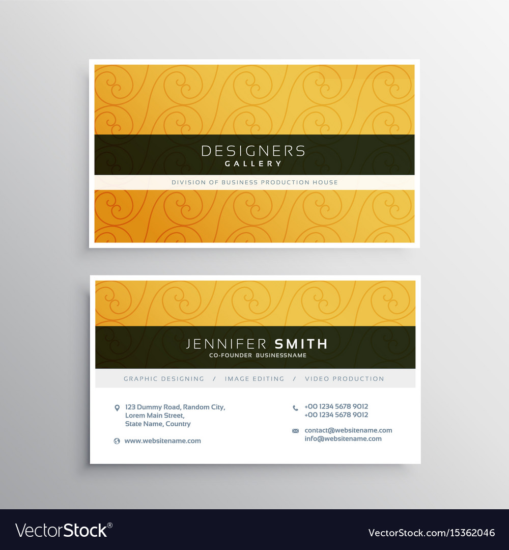 Palm tree business cards gallery free business cards business card design with photo images free business cards clean yellow business card design with elegant magicingreecefo Images