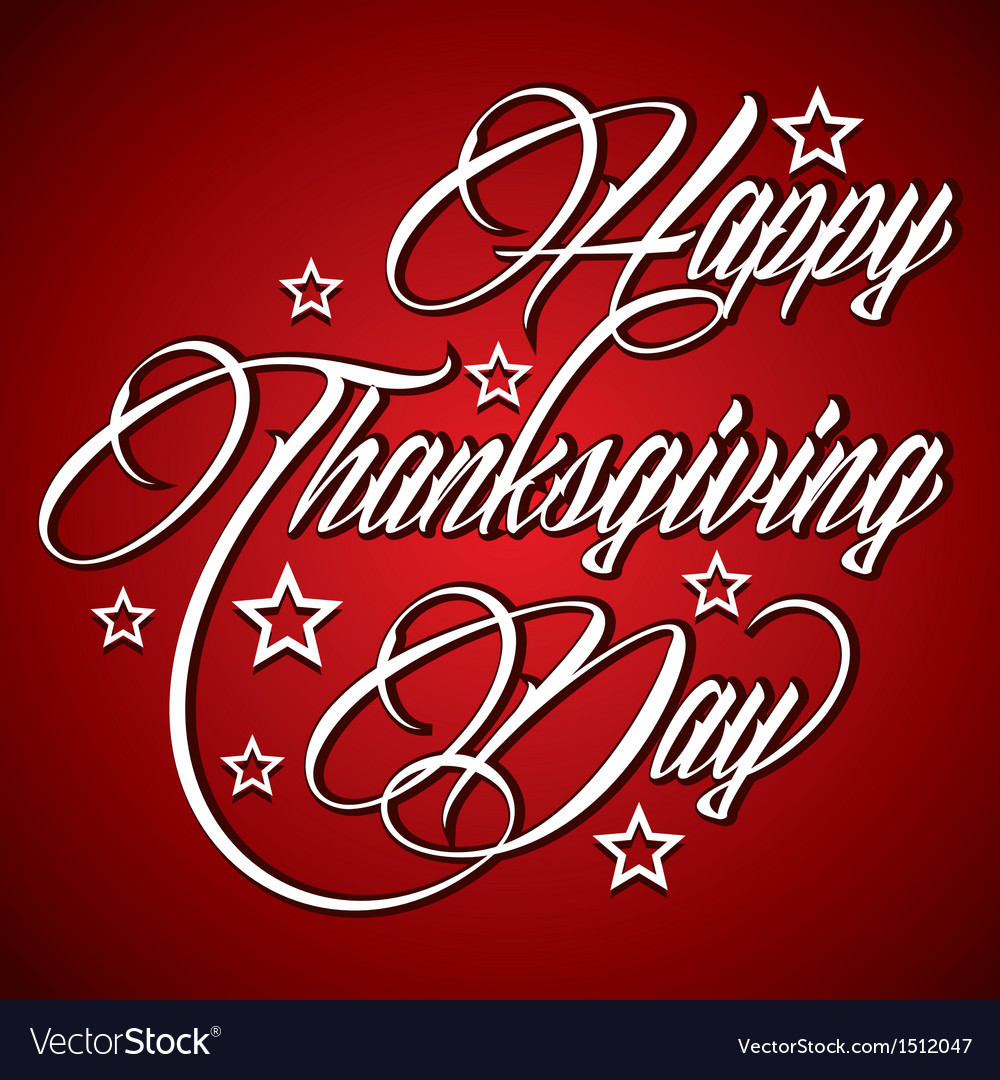 Creative design for Happy Thanksgiving Day vector image