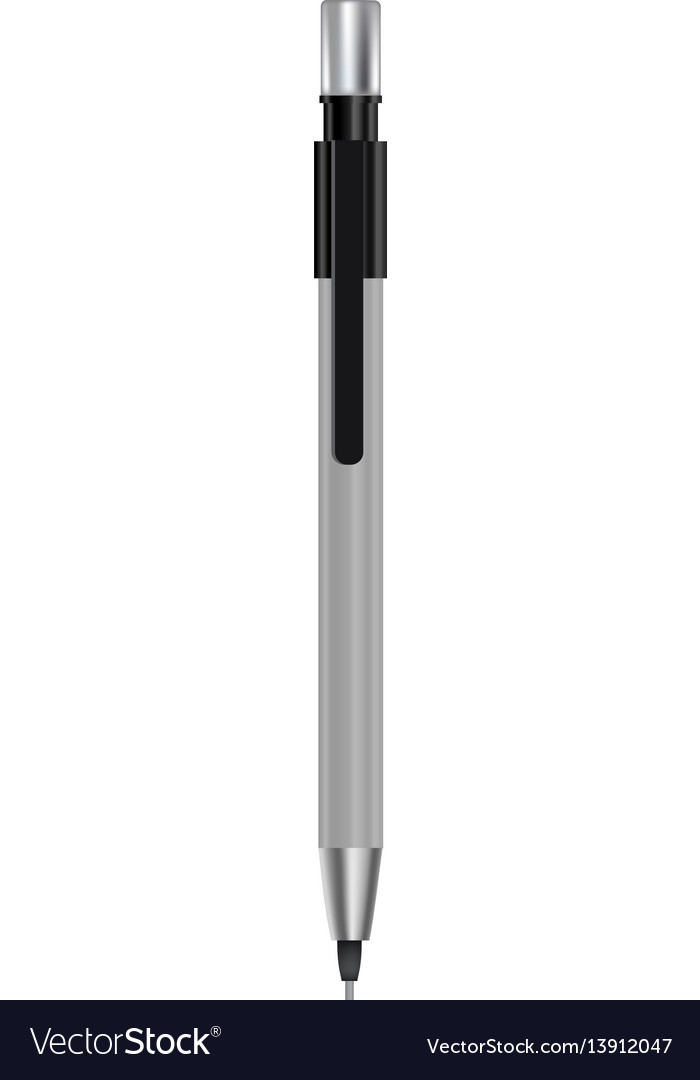 Mechanical pencil mockup realistic style vector image