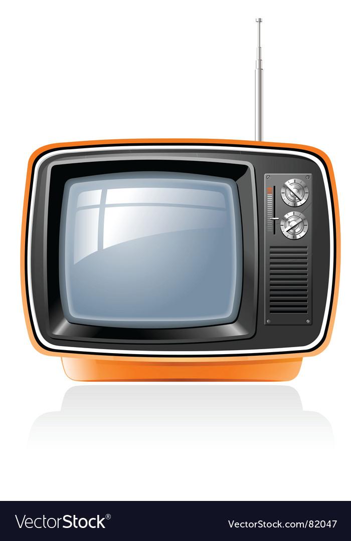 Retro tv vector image